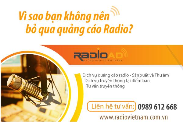 Vì sao bạn không nên bỏ qua quảng cáo radio