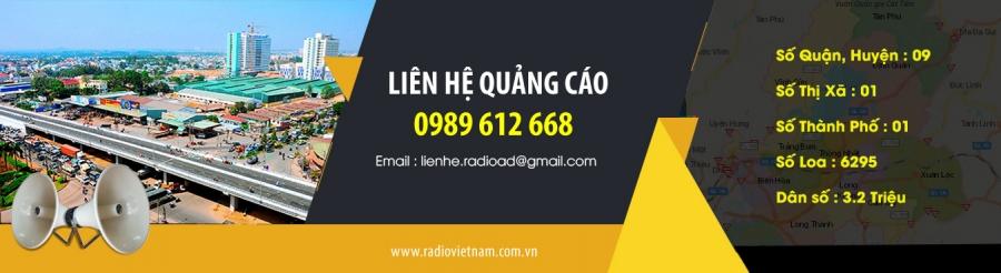 Quảng cáo radio tỉnh Đồng Nai