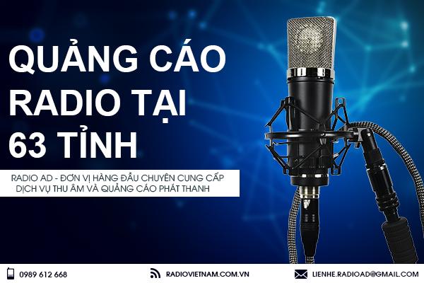 Quảng cáo radio tại 63 tỉnh